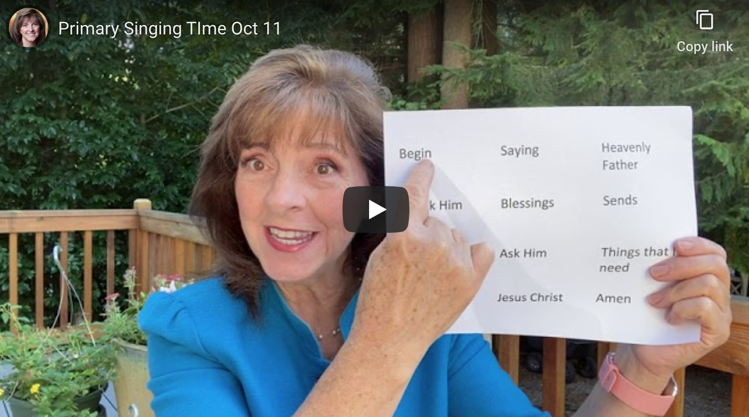 Primary Singing Time – Oct. 11, Full Video